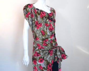 BURBO 'Wrapped Roses' Tunic dress