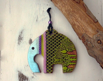 Handmade Elephant Wall Decor, A symbol of Removing Obstacles, Ceramic Elephant Home Decor, Good Luck Charm, Ready To Ship.