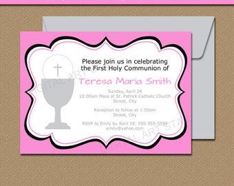 first communion invitations templates