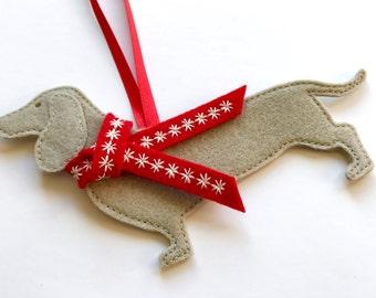 Dachshund Dog Christmas Decoration, tree decoration,  decoration,