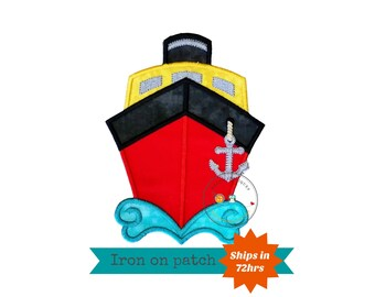 Mickey inspired cruise ship iron on applique