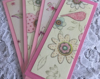 Spring Bookmark Set, Valentine's Day, Mother's Day, Easter Basket Filler - Set of 4