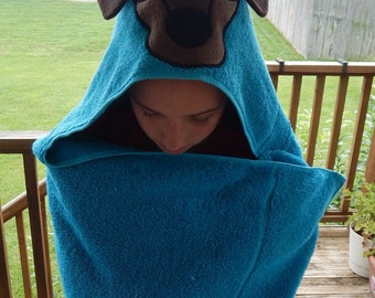 I Love My Dachshund Hooded Towel - Free Personalization