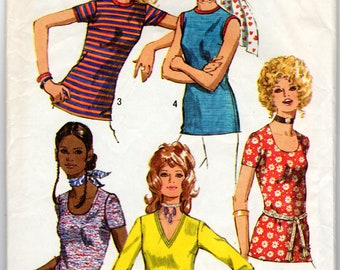 "1970's Women's Top or Blouse Pattern - Size 14, Bust 36"" - Simplicity 9365"