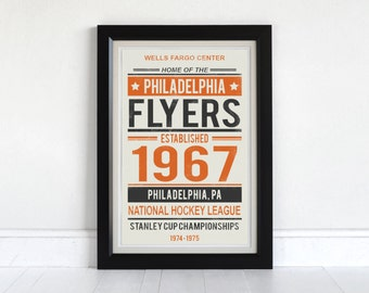 Philadelphia Flyers - Screen Printed Poster