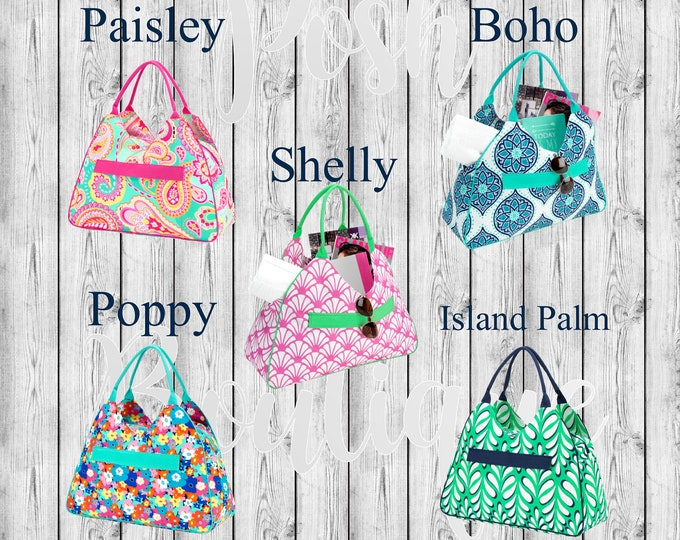 Monogrammed Beach Bag, Weekend Bag, Bridesmaid Gifts, Bridal Shower Gifts, Group Discounts, Honeymoon Bag, Oversized Beach Bag