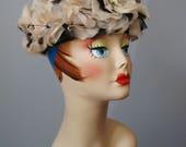 Floral Hat / Vtg 50s / Bl...