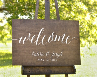 Wood Welcome Signs Wedding, Welcome to Our Wedding Sign, Welcome to the Wedding of Sign, Wooden Wedding Welcome Signs, Rustic Welcome Sign