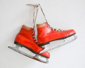 Vintage skates, Germina ice skates EUR 39, UK 6, US 7, 70s skates, 80s ice skates Ref: 307