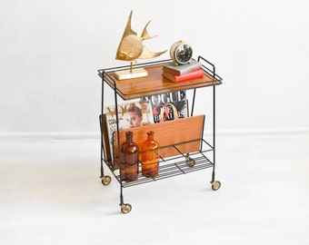 Bar cart, tea cart, serving cart, magazine cart, book cart, magazine storage