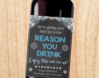 Boss Wine label gift PRINTABLE christmas gift might be the reason you drink secretary coworker holiday present