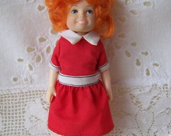 Vintage Little Orphan Annie 1982.Small Annie Doll.Knickerbocker Doll.Toys for Girls.Vintage Children's Toys.Collectible Doll.Small Doll.