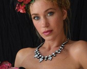 CARMEN, Fabulous red rose headdress fascinator...