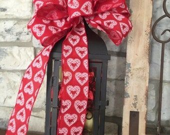 Valentine Wired Ribbon Bow
