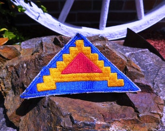 Vintage WWII US Army Seventh 7th Army Shoulder Patch - aka 7 Steps to Hell - from DustyMillerAntiques
