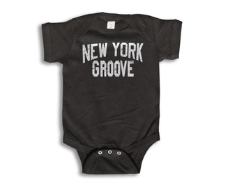Baby One Piece - New York Groove - Baby Clothes - 100% cotton Short Sleeve 6 month to 24 Months - Baby Boy - Baby Girl