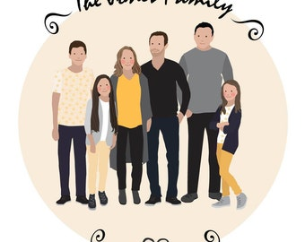 Mother's Day Family Portrait - five people