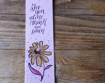Jane Austen bookmark,  quote from Persuasion with handwritten calligraphy - Captain Wentworth's letter