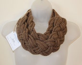 Hand Crochet Braided Celtic Style Scarf / Chunky Necklace - Handmade in the UK