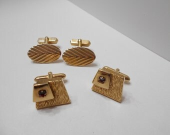 Two Vintage Swank Cuff Links Sets (8155)