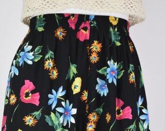 Vintage Floral Print Shorts