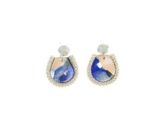 Fiesta Drop Earrings in Blue Vista
