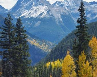 Mountain landscape, wall art, mountain photography, office decor, Colorado picture, fine art photograph, fall decor - Colorado View