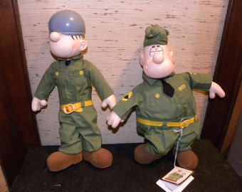 Vintage Sarge and Beetle Bailey Dolls