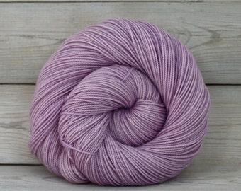 Celeste - Hand Dyed Superwash Merino Fingering Sock Yarn - Colorway: Wisteria