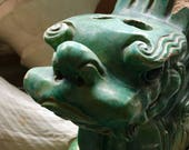ANTIQUE ASIAN DRAGON Gorgeous Green Temple Dragon for the Collector to Treasure
