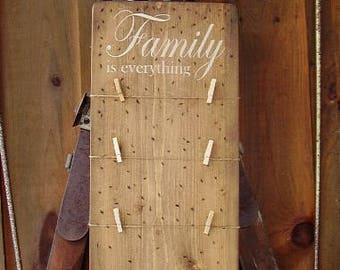 Family Is Everything, Rustic Home Decor, Home Decor, Wall Art, Family Sign, Photos On Wood, Rustic Sign, Wood Signs