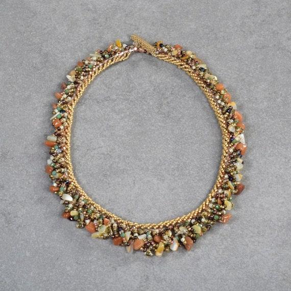 Carnelian Gemstone Necklace Beaded necklace Gift Necklace  Seed bead necklace Top valentine gifts Special valentine gift Valentines jewelry