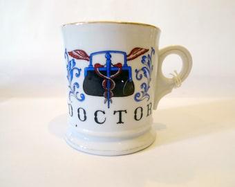 Vintage Doctors Mug with Caduceus by Viking