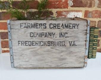 Farmers Creamery Company, Inc. Fredericksburg, VA Wood Crate
