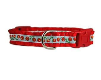 """Ruffle Dog Collar 3/4"""" Red Dog Collar"""