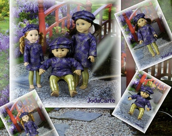 """Winter Outfits with Berets -- Triple Play (AG Bitty Baby, Wellie Wisher & Full 18"""" Doll)"""