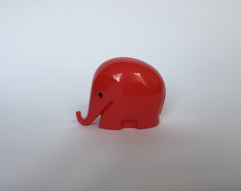 SALE 10% OFF Vintage Colani Style Elephant Piggy Bank. Space Age. Red. German. Piggy Bank. Drumbo. Germany. 2017_016