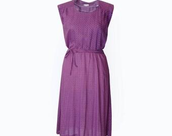 Purple dress for women, Floral dress, Silk dress, Sleeveless dress, party dress, midi dress, Casual dress, Unique dress, belt