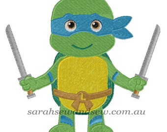 Leonardo - TMNT Embroidery Design
