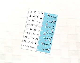 Birds Date Cover Stickers For Your Planner