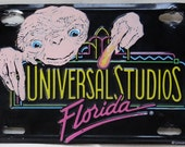 "RETIRED Universal Studios Florida ""E.T. the Extraterrestrial"" License Plate from Early 90's Park Opening Date, USED Condition"