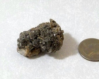 Silver Colored Pyrite Crystal Fool's Gold PYCL-1