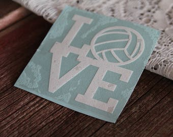 LOVE Volleyball Decal, Volleyball Vinyl, Laptop Decal, Laptop Vinyl, Car Decal, Window Decal, Window Vinyl