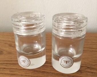 Vintage Glass Dorothy Thorpe Modern Salt and Pepper Shakers