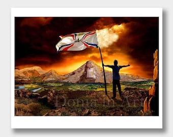 Assyrian Art, Flag of Assyria, Assyrian Gifts, Assyrian Wall Decor, Assyrian Wall Art, Assyria Paintings, Assyrian Paintings, Assyrian