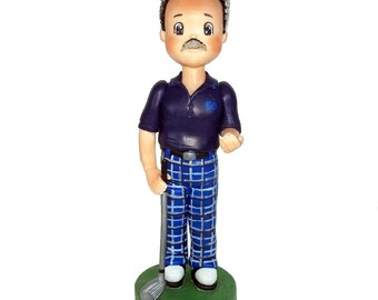 Golfer Cake Topper. Golfer Dad. Golf Player. Gifts for Boss. Custom Cake Topper. 40th Birthday. Sports. Keepsake.  Unique and Personalized.