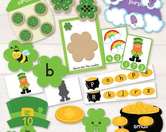 St Patrick's Day Preschool Pack AUTOMATIC DOWNLOAD