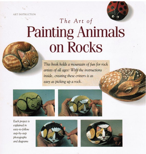 The Art Of Painting Animals on Rocks Book, Lin Wellford FREE SHIPPING USA