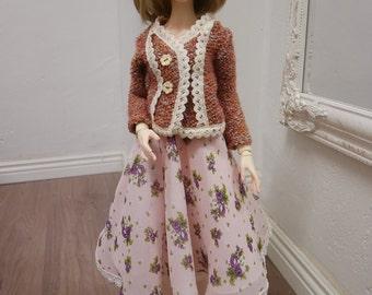 BJD - jacket with flower skirt