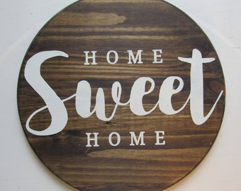 Home Sweet Home Wood Sign Home Wall Decor